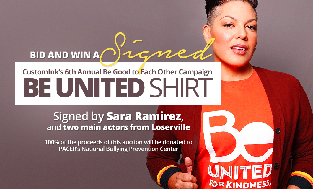 srd-PACER Be United shirt signed by Sara Ramirez - auction